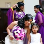 Flower girl and bride hairstyles in Tulum, Mexico by Doranna Wedding Hairstylist & Bridal Makeup Artist