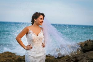 Beach bridal updo by Doranna Wedding Hairstylist & Bridal Makeup Artist in Mexico