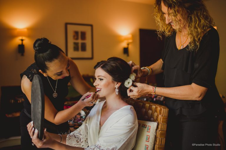 Bridal hair & makeup services in Riviera Maya, Mexico by Doranna Team