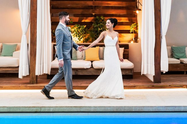 Thompson Playa del Carmen bride by Doranna Wedding Hairstylist & Bridal Makeup Artist