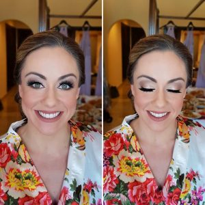 Airbrush bridal makeup at Secrets Capri by Doranna Wedding Hairstylist & Bridal Makeup Artist