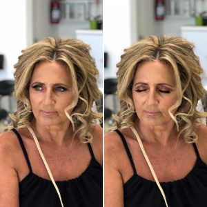 Airbrush wedding makeup for mother of the groom by Doranna Wedding Hairstylist & Bridal Makeup Artist in Playa del Carmen