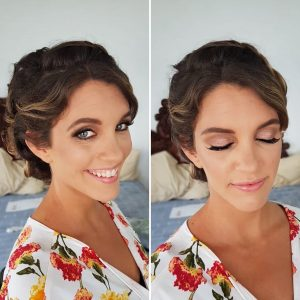 Boho bridal makeup in Akumal, Mexico by Doranna Wedding Hairstylist & Bridal Makeup Artistt