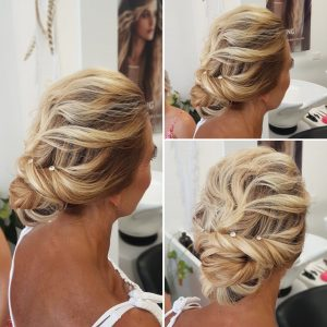 Mother of the bride soft updo by Doranna Wedding Hairstylist & Bridal Makeup Artist in Playa del Carmen, Mexico