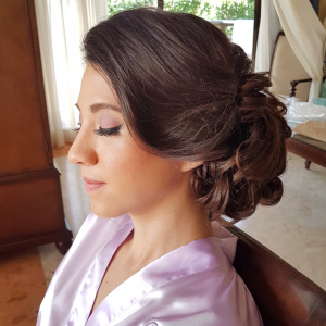 Bridal hairstyle by Doranna Wedding Hairstylist & Bridal Makeup Artist in Riviera Maya, Mexico