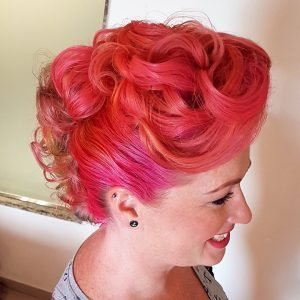 Old hollywood wedding hairstyle by Doranna Wedding Hairstylist & Bridal Makeup Artist