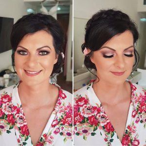 Glam bridal makeup at Viva Wyndham Playacar by Doranna Wedding Hairstylist & Bridal Makeup Artist