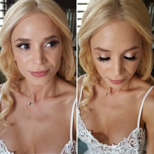 Natural airbrush bridal makeup at Fairmont Mayakoba by Doranna Wedding Hairstylist & Bridal Makeup Artist