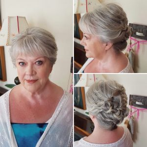Mother of the bride updo and natural makeup at Hacienda del Mar, Mexico by Doranna Wedding Hairstylist & Bridal Makeup Artist