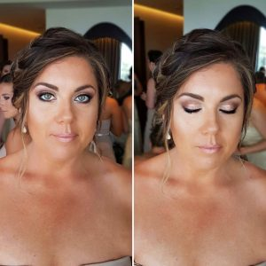 Smokey eyes makeup by Doranna Wedding Hairstylist & Bridal Makeup Artist at Thompson Playa del Carmen, Mexico