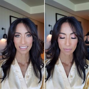 Asian american bridesmaid makeup by Doranna Wedding Hairstylist & Bridal Makeup Artist at Thompson Playa del Carmen