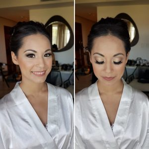 Asian bride makeup by Doranna Wedding Hairstylist & Bridal Makeup Artist in Playa del Carmen, Mexico