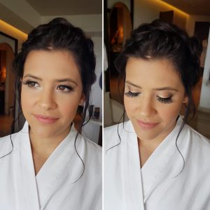 Bridesmaids makeup look at Thompson Playa del Carmen. Doranna Wedding Hairstylist & Bridal Makeup Artist