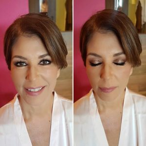 Mother of the bride glam makeup by Doranna Wedding Hairstylist & Bridal Makeup Artist at Hotel Xcaret, Mexico