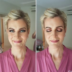 Natural bridesmaids makeup at BlueBay Grand Esmeralda Resort. Doranna Wedding Hairstylist & Bridal Makeup Artist