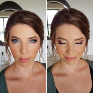 Smokey eyes bridemaids makeup by Doranna Wedding Hairstylist & Bridal Makeup Artist at Thompson Playa del Carmen