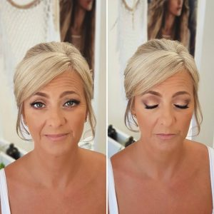 Mother of the bride natural makeup for Royalton Riviera Cancun Wedding by Doranna Wedding Hairstylist & Bridal Makeup Artist