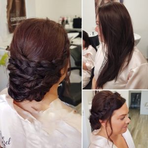 Before and after hairstyles by Doranna Wedding Hairstylist & Bridal Makeup Artist