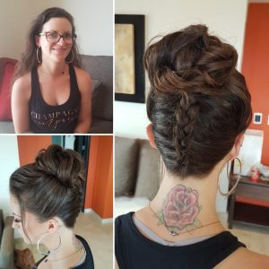 Before and after wedding hair by Doranna Wedding Hairstylist & Bridal Makeup Artist in Playa del Carmen, Mexico