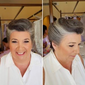 Mother of the bride hair and makeup at Secrets Capri by Doranna Wedding Hairstylist & Bridal Makeup Artist