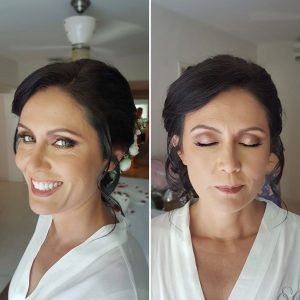 Airbrush beach bride makeup at BlueBay Grand Esmeralda by Doranna Wedding Hairstylist & Bridal Makeup Artist