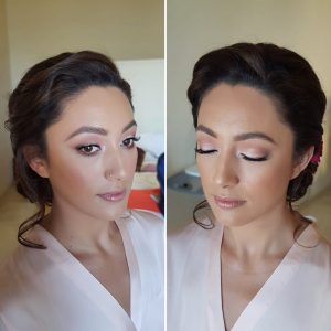 Asian bridal makeup in Puerto Aventuras, Mexico by Doranna Wedding Hairstylist & Bridal Makeup Artist