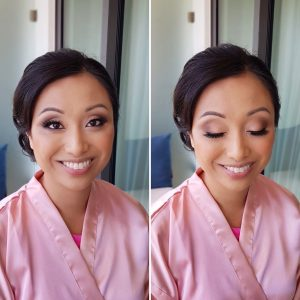 Asian bridesmaid makeup at Thompson Playa del Carmen by Doranna Wedding Hairstylist & Bridal Makeup Artist