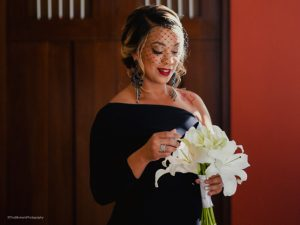 African american bride makeup by Doranna Wedding Hairstylist & Bridal Makeup Artist at Hacienda Corazon, Mexico