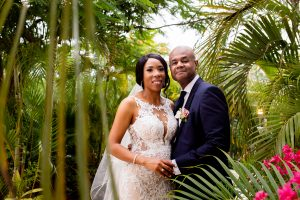 Black bride makeup at Dreams Riviera Cancun by Doranna Wedding Hairstylist & Bridal Makeup Artist