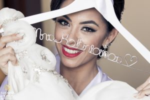 Latin bride makeup with red lips in Cancun, Mexico by Doranna Wedding Hairstylist & Bridal Makeup Artist