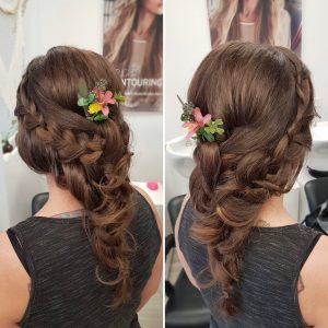 Boho long hairstyle by Doranna Wedding Hairstylist & Bridal Makeup Artist in Playa del Carmen, Mexico
