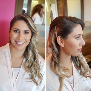 Soft waves by Doranna Wedding Hairstylist & Bridal Makeup Artist at Hotel Xcaret, Mexico