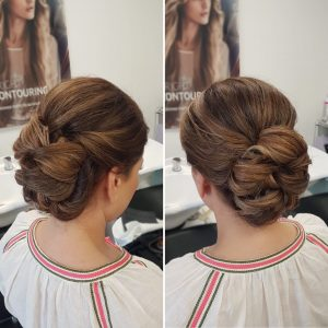 Wedding bun by Doranna Wedding Hairstylist & Bridal Makeup Artist in Playa del Carmen, Mexico