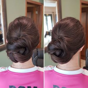 Bridesmaids updo by Doranna Wedding Hairstylist & Bridal Makeup Artist in Tulum, Mexico