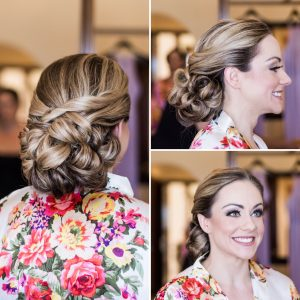 Bridal updo at Secrets Capri by Doranna Wedding Hairstylist & Bridal Makeup Artist