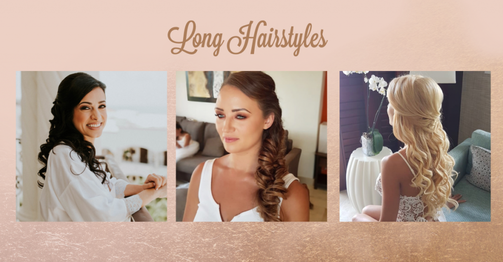 Long Bridal Hairstyles by Doranna Hairstylist