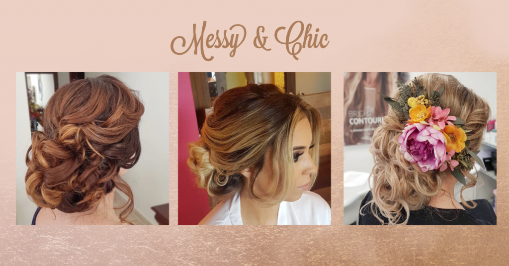 Messy & Chic Bridal Up Do by Doranna Hairstylist